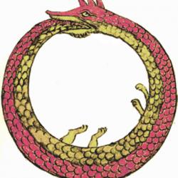Le serpent ouroboros représente le cycle du carbone